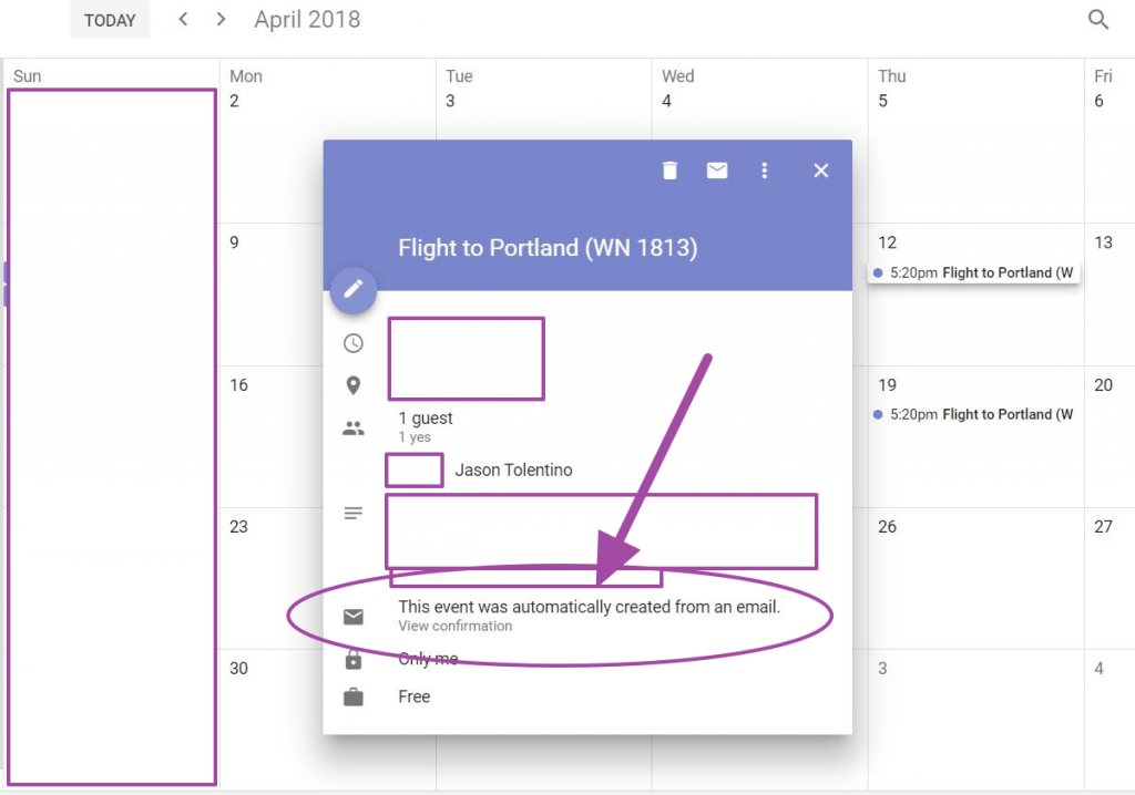google calendar automatic email