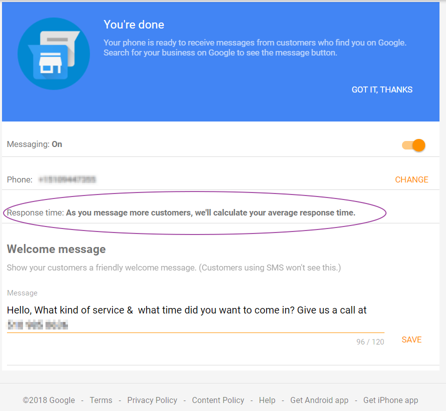 google messaging