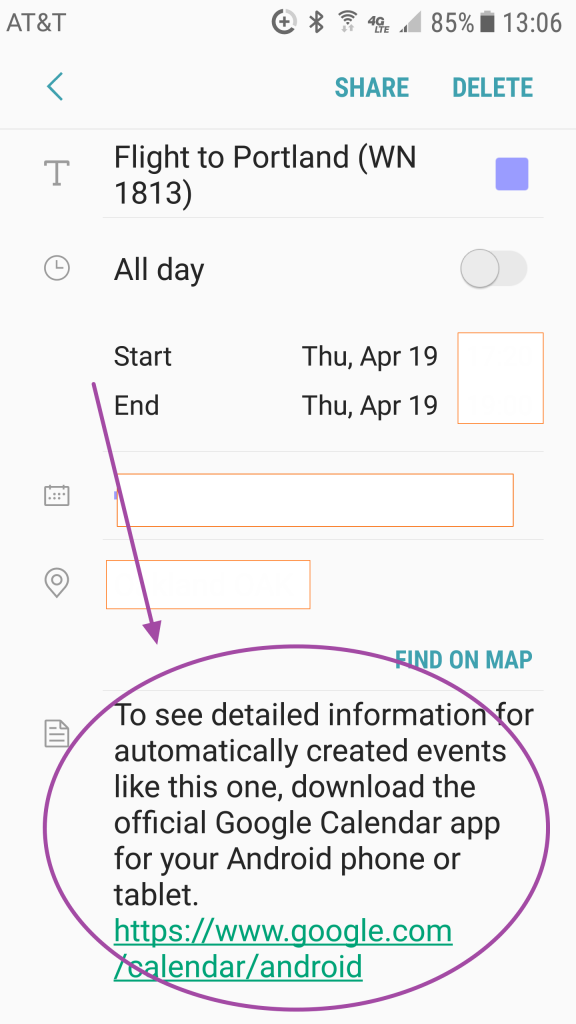 google phone calendar reminder