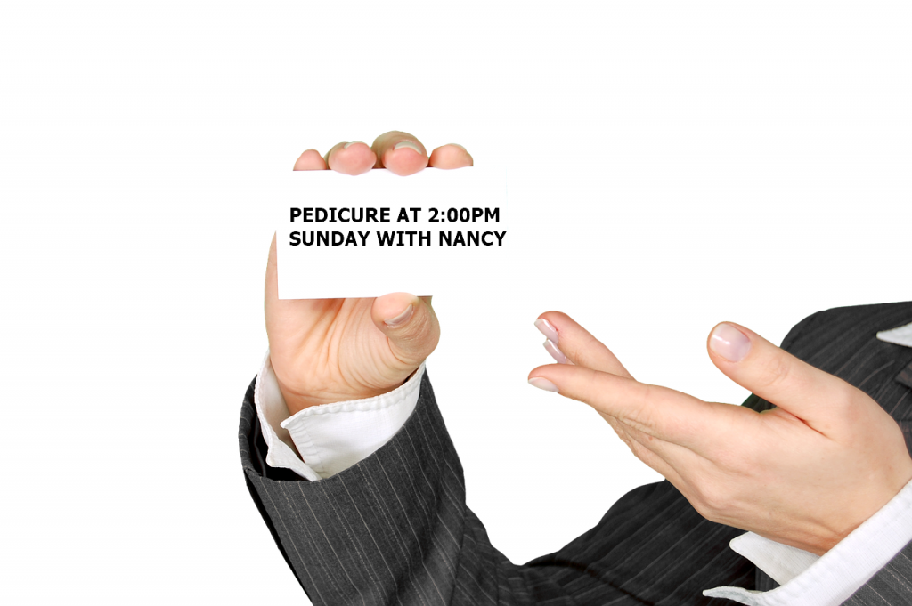 reminder business card
