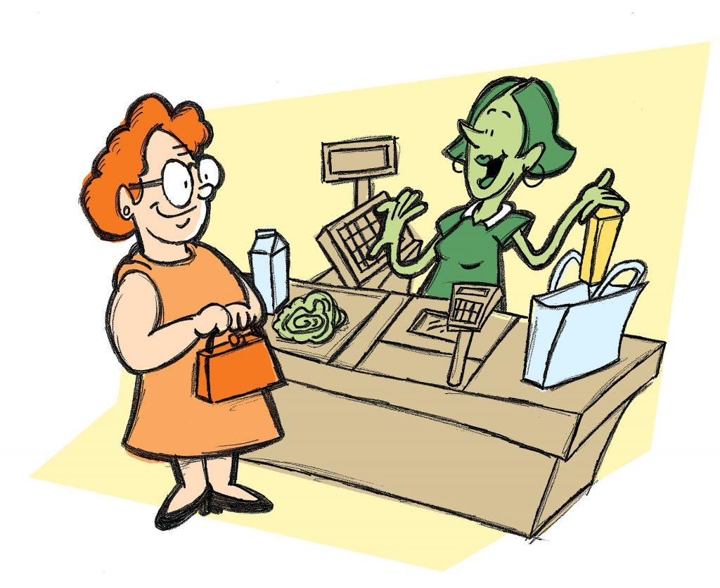 cashier girl